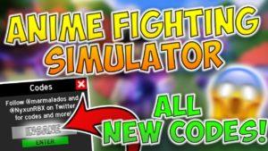 Anime Fighting Simulator коды на деньги
