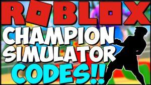 Коды на Симулятор Чемпиона в Роблокс.