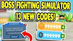 Boss Fighting Simulator коды