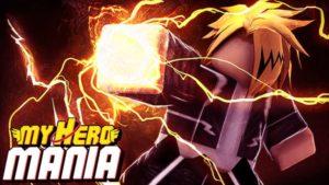 My Hero Mania (update) - рабочие коды